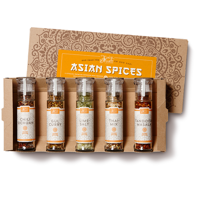 Asian Spices 5-pack kryddkvarnar
